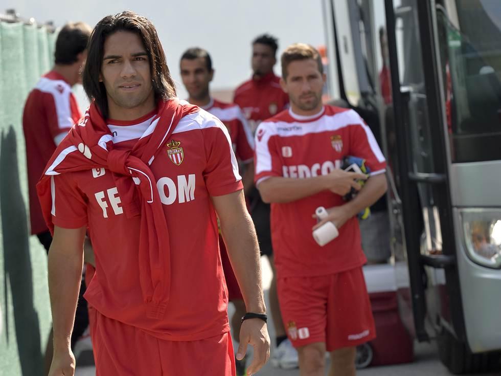 Primera practica de James y Falcao I AS Monaco 2013