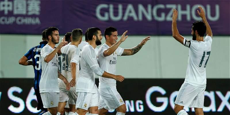 James Rodríguez volvió con un golazo a la pretemporada de Real Madrid