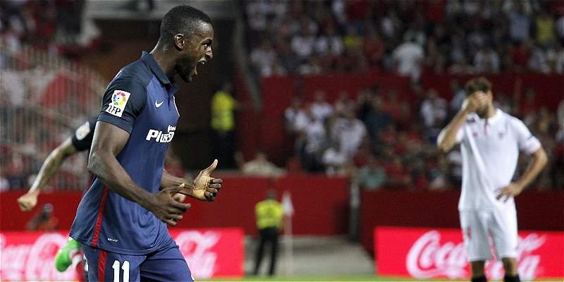 Jackson Martínez celebró su primer gol oficial con Atlético de Madrid
