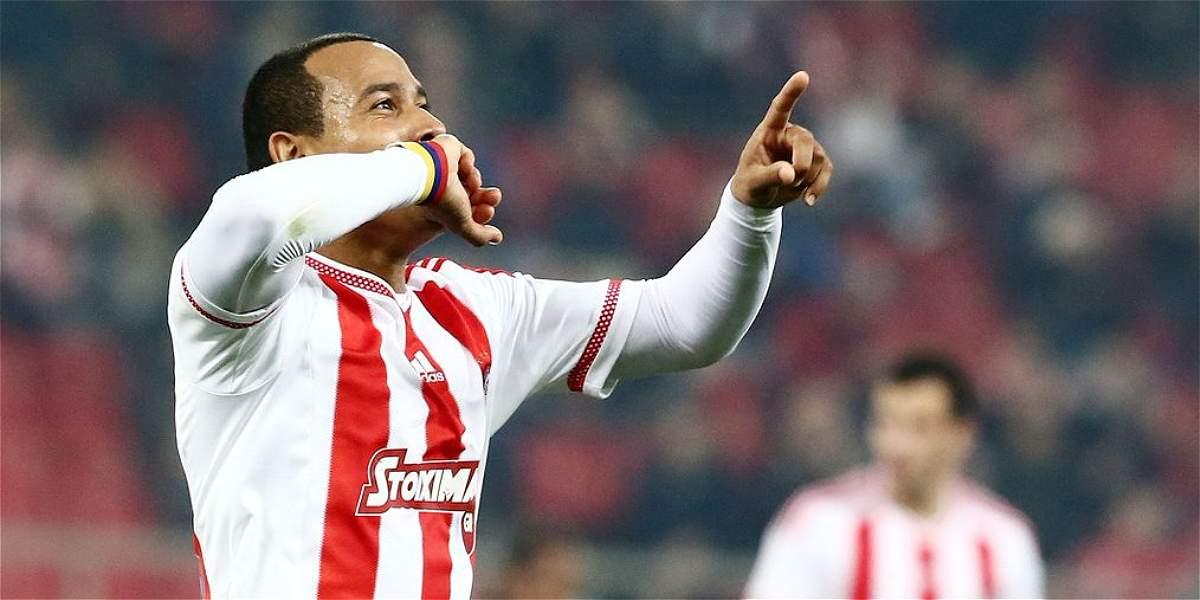 Felipe Pardo se reportó con gol en la Liga de Grecia