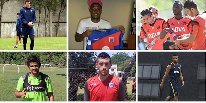 Jugadores colombianos en Argentina collage