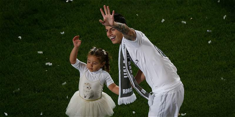 James Rodríguez celebración Real Madrid