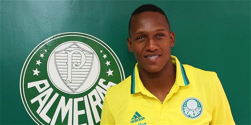 El defensor Yerry Mina ya trabaja con Palmeiras, de Brasil