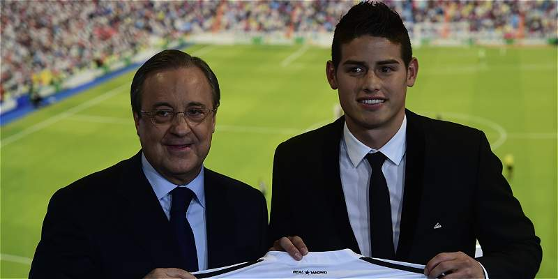 Florentino Pérez, el respaldo de James Rodríguez en el Real Madrid