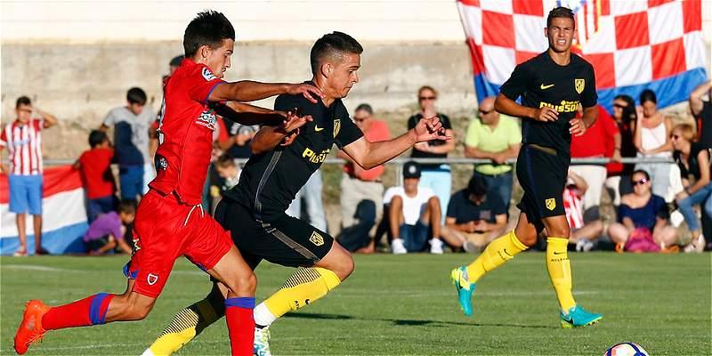 Rafael Santos Borré debutó con Atlético de Madrid, en juego amistoso