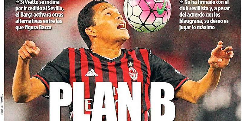Carlos Bacca sería alternativa para llegar al Barcelona