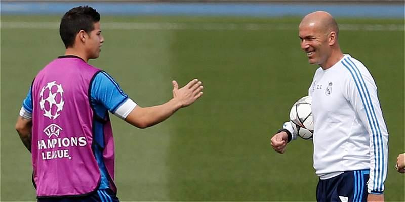 James Rodríguez Zinedine Zidane Real Madrid