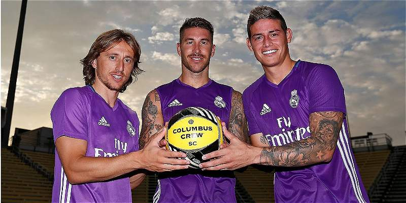 James llegó a Estados Unidos y ya se entrena con el Real Madrid