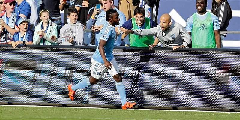 Mendoza volvió con gol en el triunfo 5-1 de New York City sobre Rapids