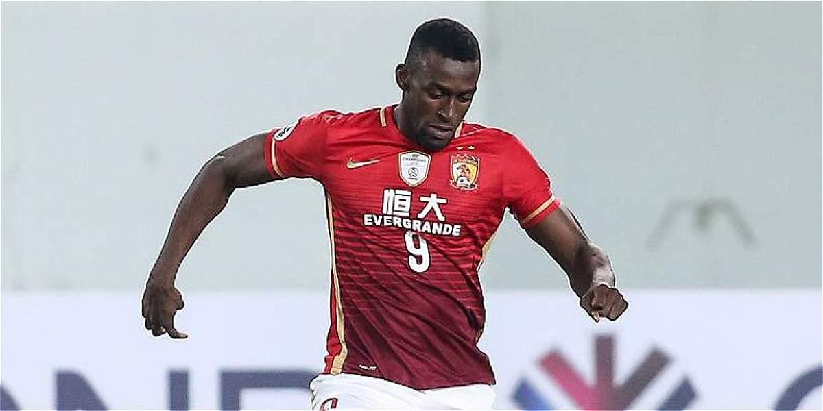 Reapareció Jackson Martínez: volvió a jugar con Guangzhou Evergrande