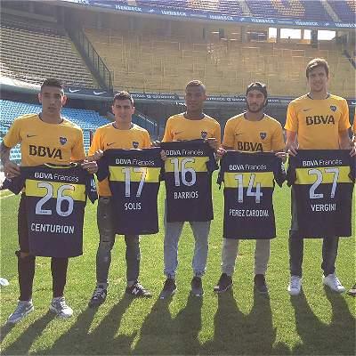 Pérez y Barrios presentados en Boca Juniors