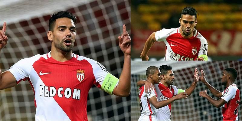 En fotos: la felicidad de Falcao García por volver con gol al Mónaco