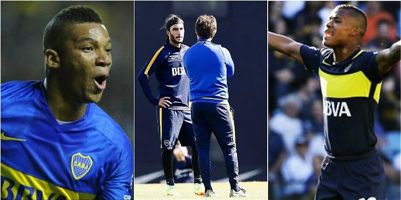 Después de 15 años, Boca volvió a tener en cancha a tres colombianos