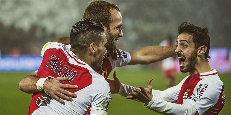 Así celebraron Falcao y sus compañeros la victoria sobre Bordeaux