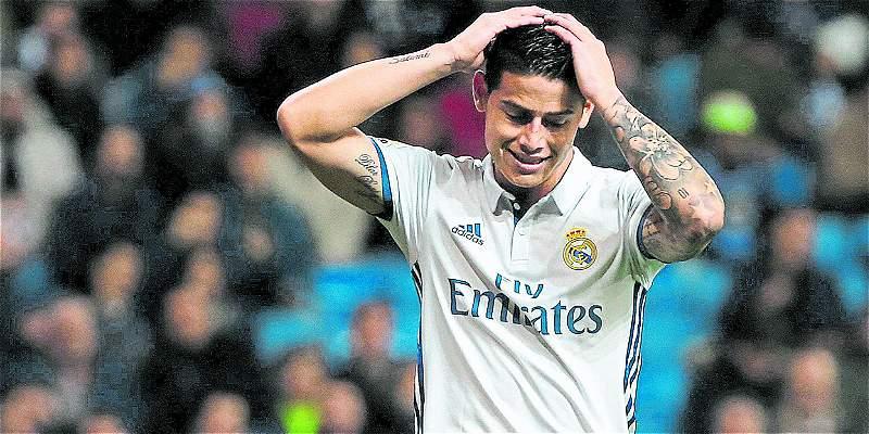 James Rodríguez hace trabajo en solitario en Real Madrid