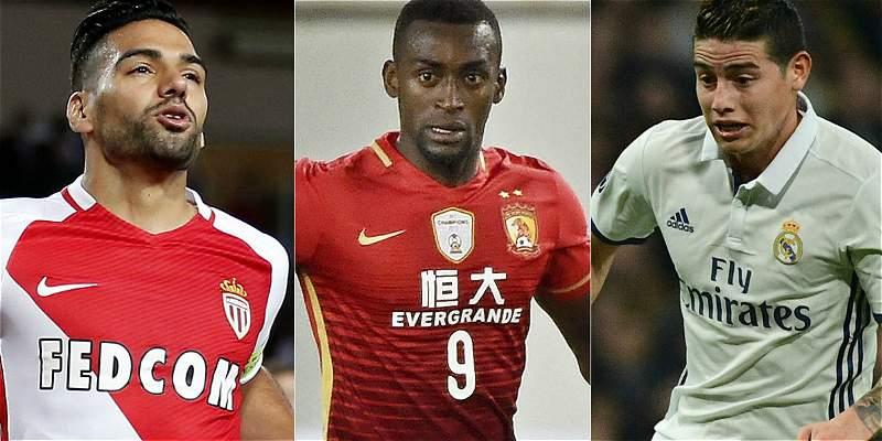 Los tres futbolistas más \'desvalorizados\' del mercado son colombianos