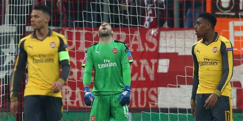 Contra Bayern Múnich, David Ospina recibió por primera vez cinco goles
