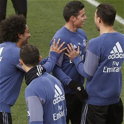James no será titular contra Las Palmas