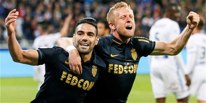 Falcao García marcó gol en el triunfo del Mónaco 1-2 sobre Lyon