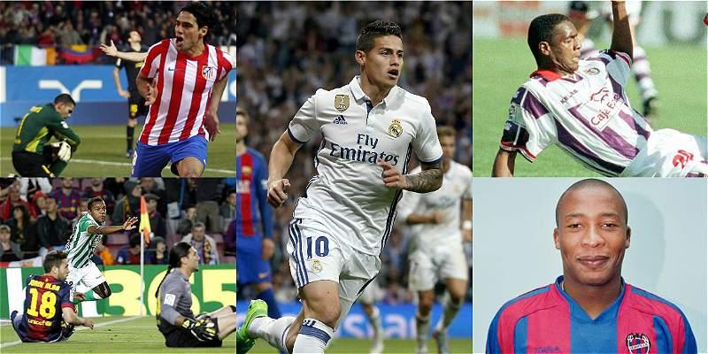 Colombianos que le han anotado gol a Barcelona