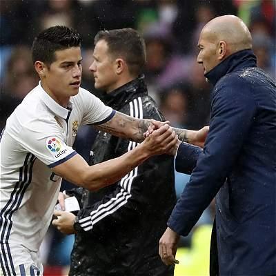 Zidane sobre Falcao