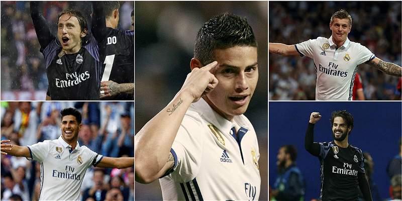 Volantes del Real Madrid