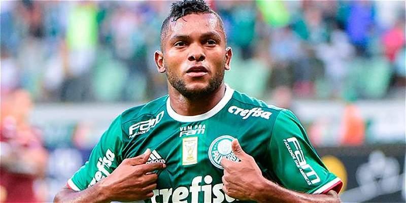 Miguel Borja, protagonista en Palmeiras: marcó el gol de la victoria