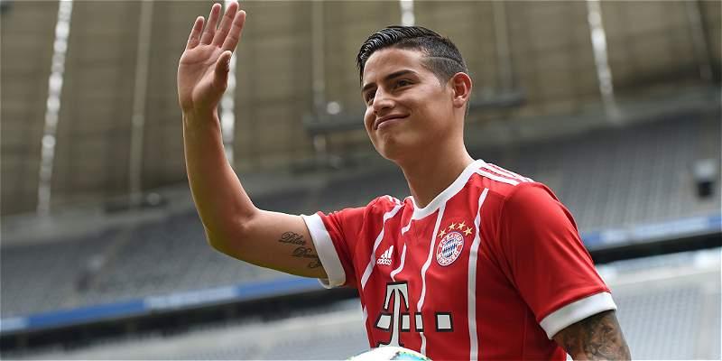 James Rodríguez, en Bayern Munich