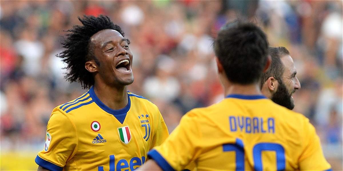 Juan Guillermo Cuadrado marcó gol del triunfo de Juventus sobre Genoa