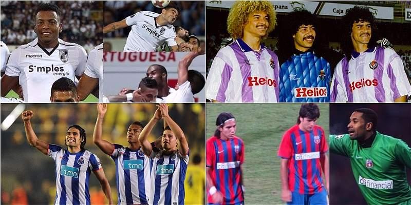 Trios de futbolistas colombianos en Europa