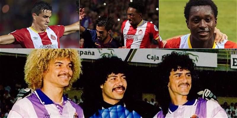 Tres colombianos en la Liga de España