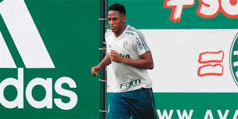 ¡Buenas noticias! Yerry Mina volvió a entrenarse con Palmeiras