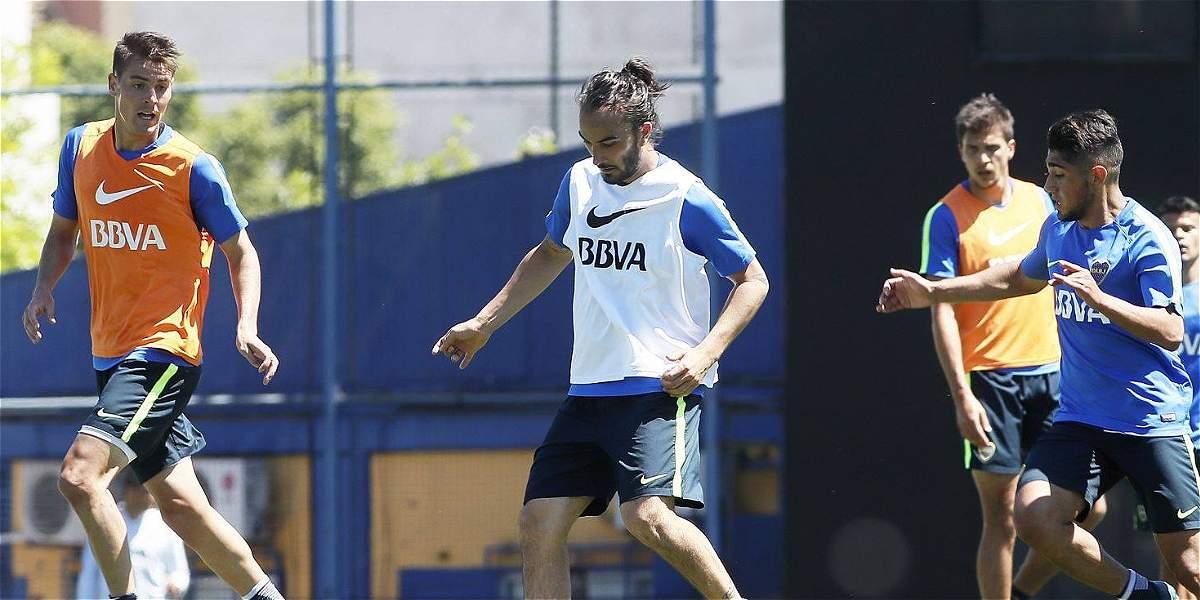 Sebastián Pérez va muy bien: hizo ejercicios con balón en Boca