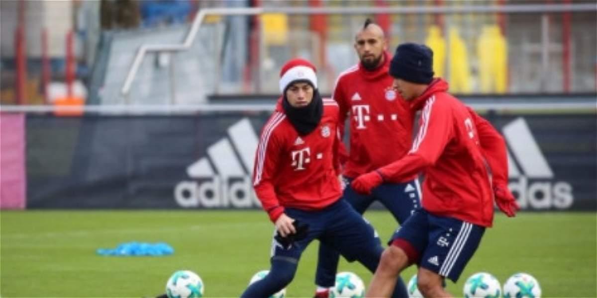 ¡Grata noticia! James volvió a entrenarse con el Bayern Múnich
