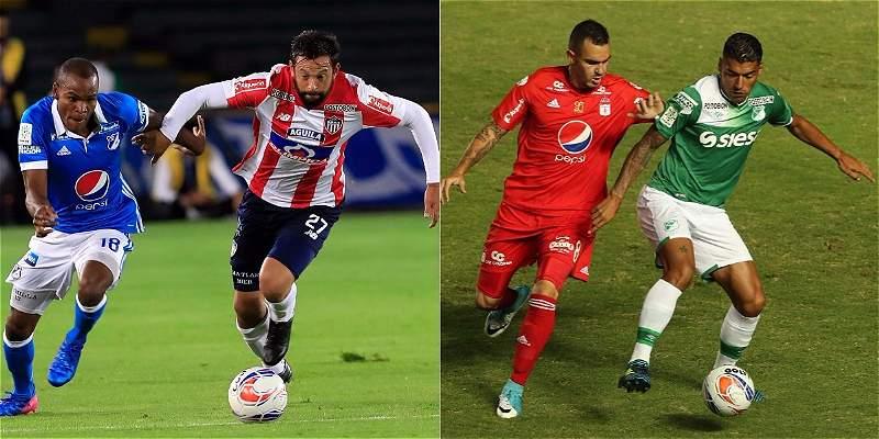 Los cuartos de final prometen grandes duelos entre Junior-Millonarios y América-Deportivo Cali.