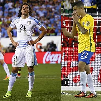 Cavani y Coutinho, las estrellas que decepcionaron en la Copa