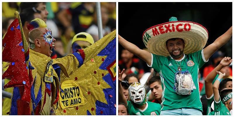 Colombianos y mexicanos
