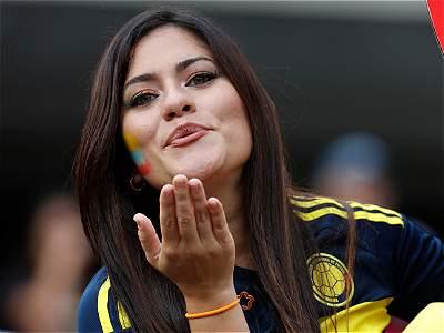 Hinchas de Colombia en la Copa (galería)