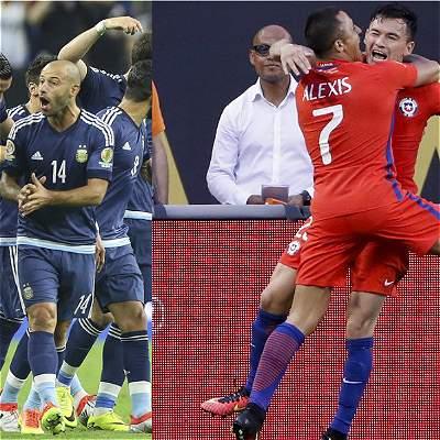 Argentina vs. Chile alineaciones
