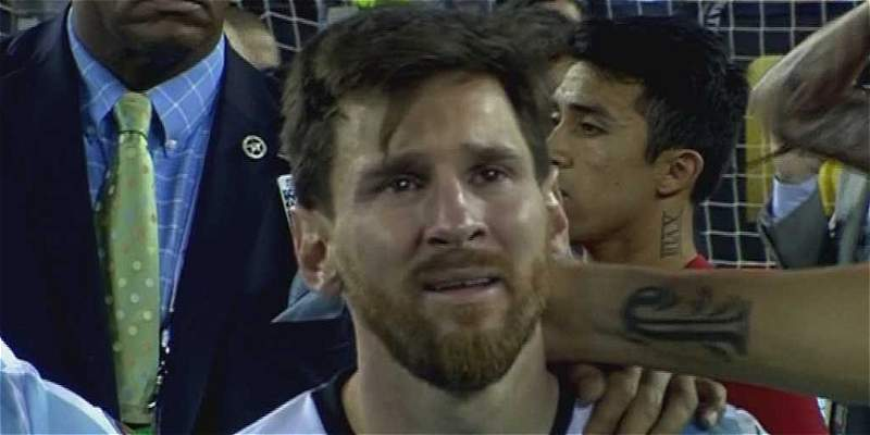 Messi lloró desconsolado tras perder la final de la Copa América