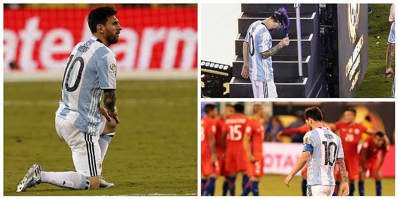 En fotos: la desolación de Messi tras perder la final de Copa América