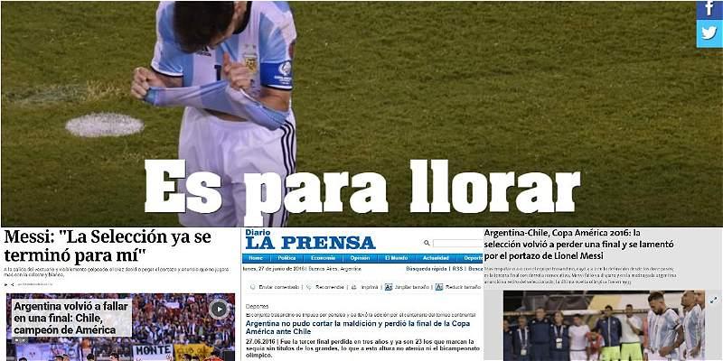 Prensa argentina Copa América Centenario