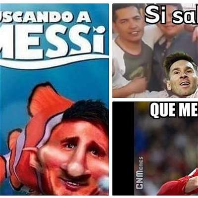 Memes Messi collage