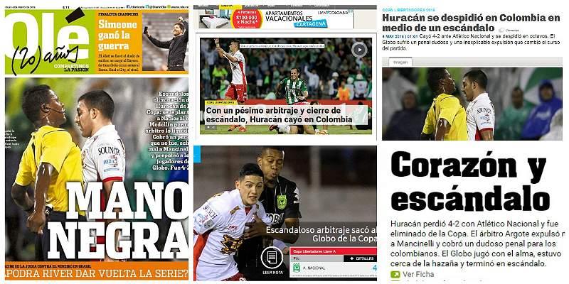 Prensa de Argentina Huracán