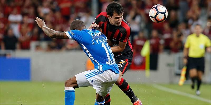 Millonarios pierde en definición por penaltis ante Atlético Paranaense