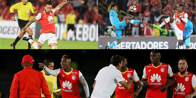 En imágenes: la primera victoria de Santa Fe en Copa Libertadores