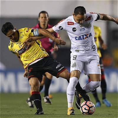 Barcelona dio el batacazo, le ganó 0-1 a Santos por Copa Libertadores