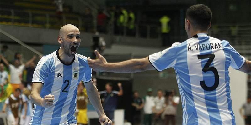 Argentina ganó 5-0 a Egipto y avanzó a semifinales del Mundial Fútsal