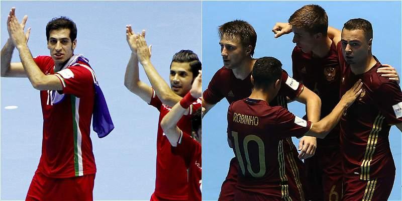 Irán-Rusia: por el cupo de la sorpresa en la final del Fútsal-2016