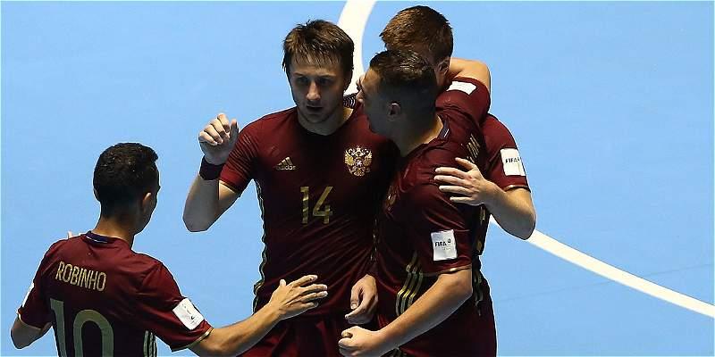 Rusia, primer finalista del Mundial de Fútsal: ganó 4-3 a Irán
